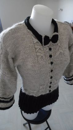 Pull chemise noeud papillon manches 3/4 : Pulls, gilets par annbcreation