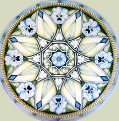 Pansy Mandala by Holli Zollinger on Etsy.
