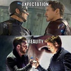 Chris Evans & Robert Downey Jr