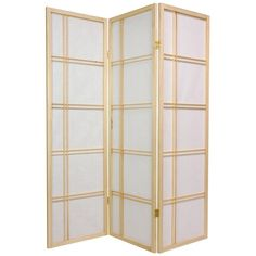 Oriental Furniture Double Cross 60 Inch Shoji Screen Room Divider Natural - DC60-NAT-3P