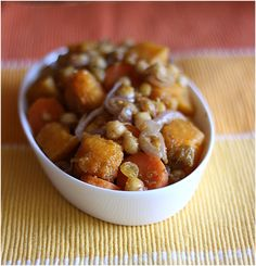Pumpkin and carrot with chickpeas