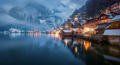 Impressions from our last winter-trip to Hallstatt in Austria. Not the famous standard composition with the two churches, but just a residential neighborhood. It never stops to amaze me just how narrowly this village is squeezed in between the lake and the steep mountain.   Officially selected by Flickr as one of  Flickr's Top-25 photos of 2017    Featured on FRONT PAGE of  The New Perfection In Pictures in August 2017    Featured on front page of  **Optical Excellence**  as Administrator...