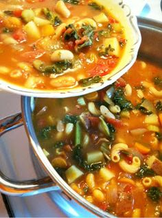 Minestrone - Forks Over Knives I used red kidney bean, didn't have the kale, also put in a chicken bullion cube instead of vegetable broth.