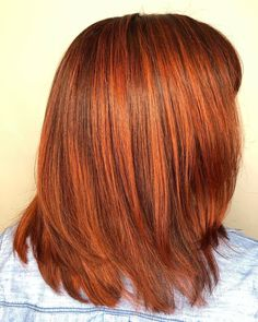 Wanna try a new cut and color that won't make you feel bad right after? A vibrant copper orange on mid-length layers will do you great! Hair Color Shades, Hair Colours, Colors, Make You Feel, How Are You Feeling, How To Make, Latest Hairstyles, Cut And Color, Mid Length