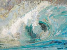 Matthew Cusick Depicts Roaring Movement of Waves Through Map Collages - Fiona's Wave
