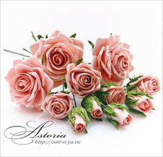 Paper rose bouquet tutorial. (russian site)