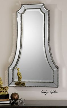 Uttermost Cattaneo Silver Beaded Mirror  21 x 40   $394  less 5%