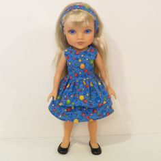 Hearts for Hearts Doll Clothes  2 Pc. Ruffled by AmericAnnMade, $15.00