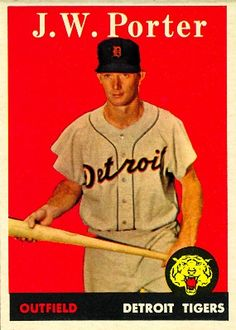 J.W. Porter 1958 Outfield - Detroit Tigers  Card Number: 32A