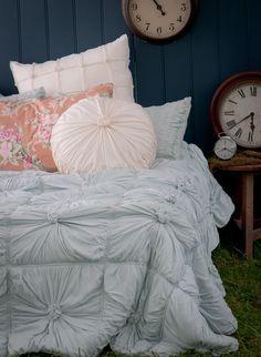 rosette quilt in duck egg blue $319.00 yes please santa :)