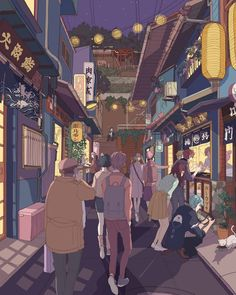 Rfa on a business trip in Japan And strolling through a street food alley in the evening  #mysticmessenger #japanese street