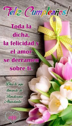 Happy Birthday Wishes Images, Happy Birthday Celebration, Happy Birthday Flower, Happy Birthday Pictures, Happy Birthday Greetings, Birthday Messages, Spanish Birthday Cards, Birthday Message For Daughter, Birthday Clips