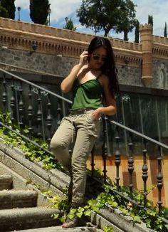 Look verde. Look estilo Lady 2014.