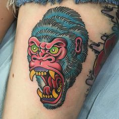 What does gorilla tattoo mean? We have gorilla tattoo ideas, designs, symbolism and we explain the meaning behind the tattoo. Cool Back Tattoos, Cool Tribal Tattoos, Tribal Tattoo Designs, Tattoos For Guys, Brother Tattoos, Eagle Tattoos, Leg Tattoos, Sleeve Tattoos, Crown Tattoos