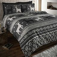 Helsinki Flannelette Grey Stag Single Quilt Duvet Cover and Pillowcase Brushed Cotton Bedding Bed Set, Grey King Size Duvet Covers, Double Duvet Covers, Single Duvet Cover, Pillow Covers, Brushed Cotton Bedding, Cotton Duvet, Helsinki, Zen, Christmas Bedding