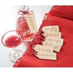 Mudpie Christmas Holiday Beverage Tag Set of 6 #WhimsicalUmbrella #Beverage #Holidays #Christmas #Gift whimsicalumbrella.com