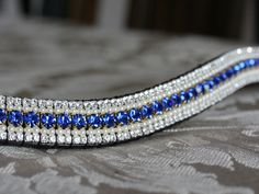 Equiture - Sapphire, pearl and clear megabling browband, $89.35 (http://www.equiture.biz/sapphire-pearl-and-clear-megabling-browband/)