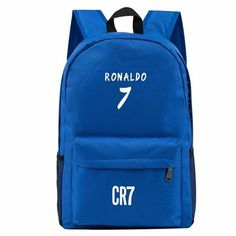 8877a5360969 Teen Men Backpack School Bags Boys Teenagers Back Pack Ronaldo Bookbags  Fashion Ronaldo Book Bags for Children SchoolBag