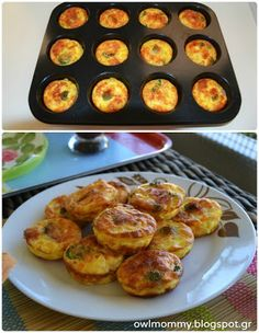 Little omelets in the oven! Omelet, Kitchen Hacks, Food For Thought, French Toast, Oven, Cooking Recipes, Pasta, Breakfast, Omelette