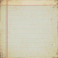 Vintage Notebook Paper  sm