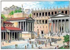 The rostrum in the Forum Romanum ~ O. Scarpelli