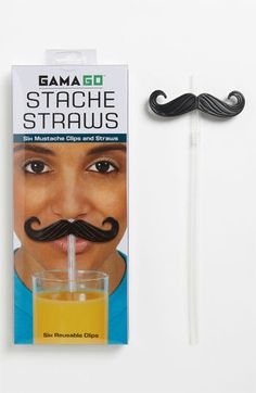 Let's think about this. Put the straw in your mouth. It becomes a chin stache. Not as funny or funnier?