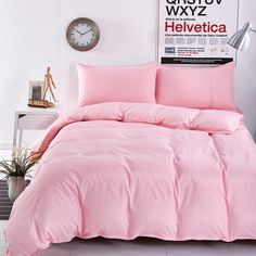 New Style Minimalist Soft and Comfortable Bedding Set Bed Sheet Duver Cover Pillowcase King Queen Full 4pcs Twin 3pcs