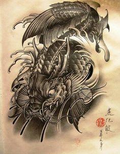 Koi fish tattoo idea