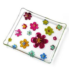 Glass Fusion Flower Plate