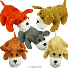 MINI PLUSH DOGS. With embroidered features, adorable smiles and soft velour bodies, these will be any stuffed animal collector's BFF. Assorted natural colors. Perfect for Christmas stocking stuffers and Easter basket treats.  Size 5.5 Inches