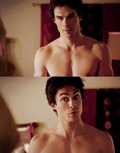 Ian Somerhalder #thevampirediaries Cute face :)                                                                                                                                                      More