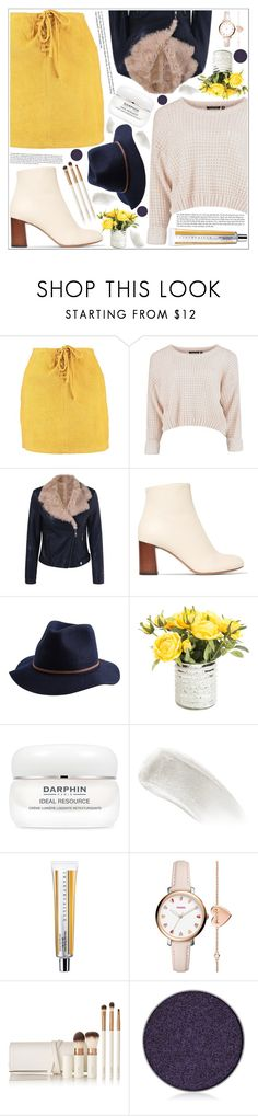 """style"" by lena-volodivchyk ❤ liked on Polyvore featuring Boohoo, Chloé, Brixton, Darphin, BBrowBar, FOSSIL, lilah b. and Anastasia Beverly Hills"