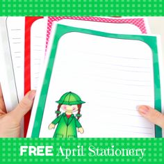 April Themed Stationery {FREEBIE} by Created by MrHughes