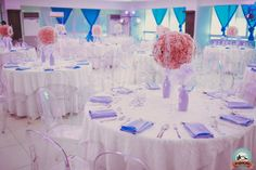 Brianna's Cinderella themed party - Table Setting