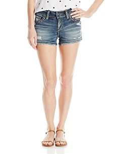 Silver Jeans Women's Suki Midrise Rise Super Stretch Denim Short * Be sure to check out this awesome item.