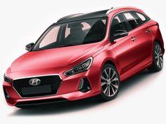Hyundai i30 Tourer 2018 3D Model .max .c4d .obj .3ds .fbx .lwo .stl @3DExport.com by fisherman3d