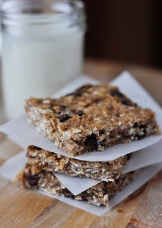Healthy Banana Oat Snack Bars. Healthy, maybe, depends on your definition, at least home made and without preservatives. Delicious...not really at all. My son wouldn't touch them, so I coated in chocolate and he ate two.