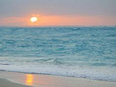 Sunset in Paradise over the Caribbean and on a Beach Lámina fotográfica