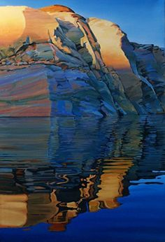 A New Day II, 36x24, Oil by Ron Larson Oil ~ 36 x 24, Lake Powell