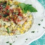 Creamy Shrimp, Corn and Zucchini Orzo