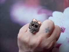 Girly Rhinestoned Skull with Pink Hairbow Ring Free Shipping $8.80