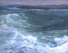 """huariqueje: """" Rusching Wave - Charles H. Woodbury American 1864-1940 """""""
