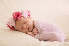 Newborn Pink Floral Crown