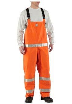 Carhartt Mens Bold Orange Flame-Resistant Rainwear Bib   Buy Now at camouflage.ca