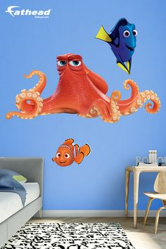 Finding Nemo fan? Prove it! Put your passion on display with a giant Hank - Finding Dory Fathead wall decal! SHOP Disney wall art decor at  http://www.fathead.com/disney/finding-nemo/hank-finding-dory-wall-decal/