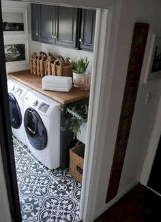Our Laundry Room Makeover (Dear Lillie) itstaylormichelle . Related posts: Easy Laundry Room Makeover 39 Laundry Room Makeover with Farmhouse style ✔ 68 top laundry room organization ideas 12 Tiny Laundry Room Inspiration Laundry Room Tile, Laundry Room Remodel, Farmhouse Laundry Room, Room Tiles, Laundry Closet, Laundry Room Organization, Small Laundry, Laundry Room Design, Organization Ideas