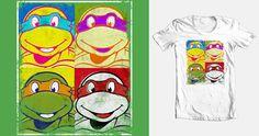 Ninja Pop Turtles on Threadless Famous Pop Art, Tmnt, Turtles, Ninja, Doodles, Illustration, Shirt, Color, Tortoises