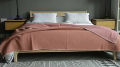 dusky-pink-waffle-throw Bed Company, Charcoal Color, Cosy, Waffles, Bedrooms, Colours, Warm, Autumn, Blanket
