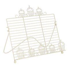 cute! want! Cream cupcake recipe book stand - Book holders - Cookware - Home & furniture -