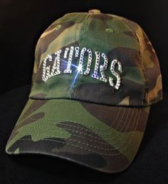 Florida Gators Womens Bling Camo Hat Swarovski by BabyWantsBling, $54.99